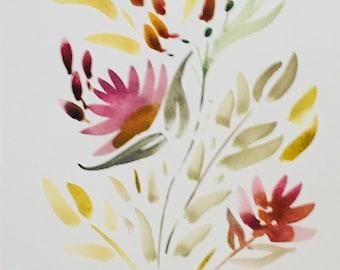 Neutral florals    watercolor