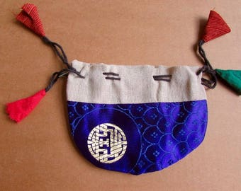 Gift Bags, Jewellery Pouch, Drawstring Pouch, Coin Purse Handmade, Mala Pouches S2.3 - 1 Giftbag