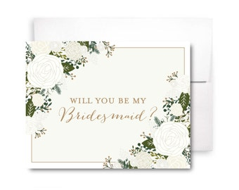 Will You Be My Bridesmaid Card Bridesmaid Cards Ask Bridesmaid Bridesmaid Maid of Honor Gift Matron of Honor Flower Girl #CL177