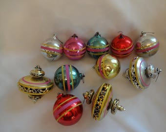 Christmas Ornaments 1950s Vintage Plastic
