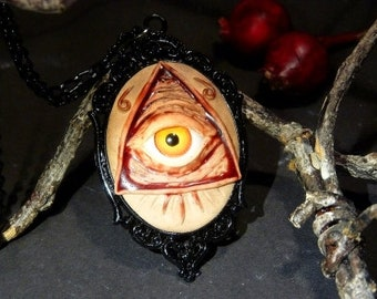 "Necklace - fleshy ""All-Seeing Eye"""