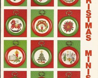 "Vintage Wangs International ""Christmas Minis"" Cross Stitch leaflet"