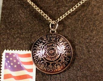 Two Shilling Pendant | Shilling Necklace | Florin Coin Pendant