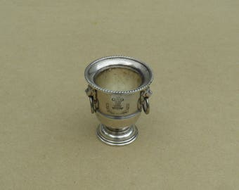 Mini Wine Cooler - Silver Plated - Commemorative - Royal Wedding 29th July 1981 - Viners of Sheffield - Vintage Silverplate
