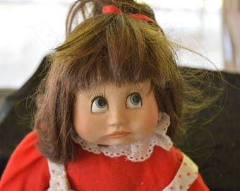 Vintage Porcelain Collectible Doll 1990 Google Eyes