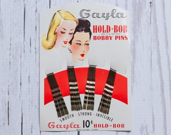 1940s bobby pins | vintage hair accessories | deadstock