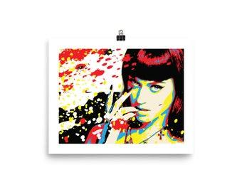 Katy Perry Pop Art Wall Home Decor Print