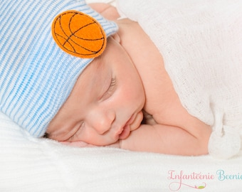 BASKETBALL NEWBORN HAT, newborn hospital hat, boy newborn, Baby boy hat, newborn boy hat, boy hospital hat, boy newborn hat, boy baby hat,