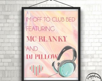 Music Art - DJ Wall Art -  Nursery Wall Art - Wall Art  - Bedroom Wall Decor - Wall Decor - Digital Download