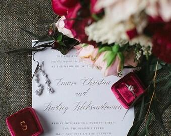 Printable Wedding Invitation | Calligraphy Wedding Invitation Printable, Gold Wedding Invitation, Wedding Invite, Classic, Calligraphy