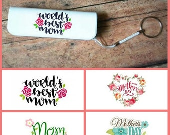 Mother's Day portable power bank keychain phone charger