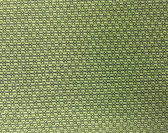 Green and Black Woven Upholstery Fabric - Upholstery Fabric By The Yard