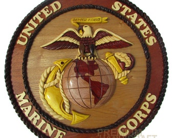 "12"" Handcrafted Wooden Emblem WE16284"