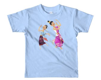 Lao Girls Dancing Short sleeve kids (ages 2-6) t-shirt