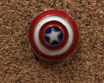Marvel Captain America Shield Enamel Pin