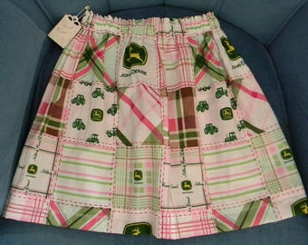 Farm girl John Deere Skirt Handmade, size 6 to 8