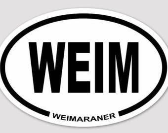 WEIM Weimaraner Bumper Sticker 2x3