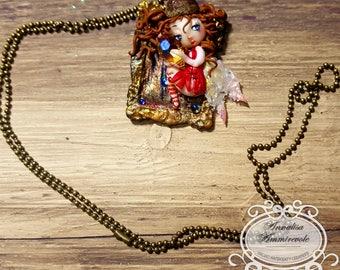 Fairy Pendant with Swaroski