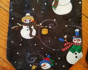 Snowman tie, ugly Christmas tie,  Yule Tie Greetings, Hallmark tie