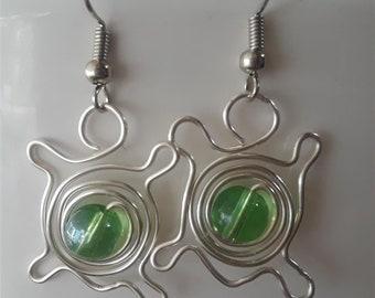 Wire Turtle Earrings