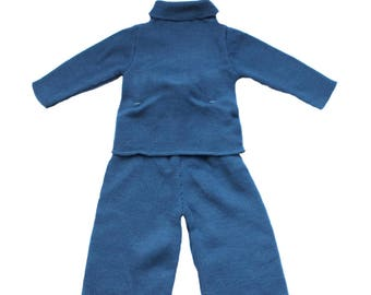 FRENCH VINTAGE 70/80's / baby knitted outfit / sweater and pants / acrylic knit / new old stock / size 6 months