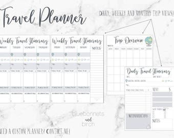 Travel Planner, Daily, Weekly & Monthly travel plans!