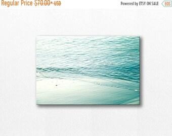 ON SALE coastal canvas art beach photography canvas print canvas 12x18 24x36 fine art photography ocean nautical decor canvas wrap aqua canv