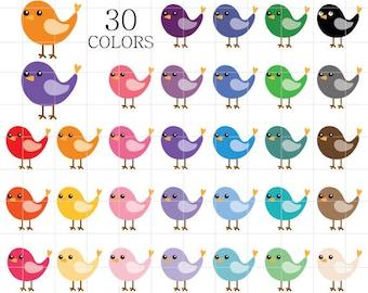 Bird Clipart, Birds Clip Art, Bird Clip Art, Pets Clipart, Colorful Birds, Rainbow Birds, Cute Birds Clipart, Digital Birds, Birds Clipart