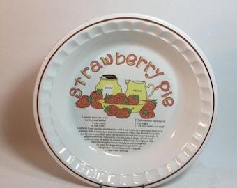 Vintage Ceramic Strawberry Pie Plate Recipe Dish & Vintage Ceramic Cherry Pie Plate Recipe Dish from ThumbBuddyWithLove ...