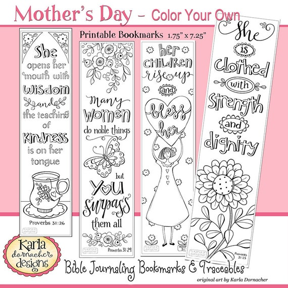 A Godly Woman PROVERBS 31 Color Your Own Bible Bookmarks Journaling Instant Download Scripture Digital Printable Christian From Karladornacher On