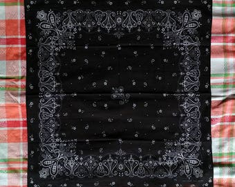 Free Shipping no10000 Black Fast Color 100 Percent Cotton Vintage Bandana