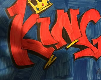 King Graffiti drawing