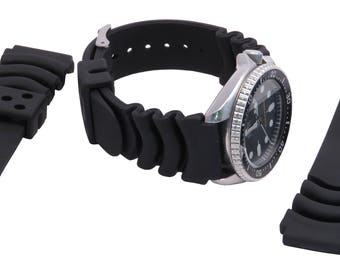 Rubber sporty thick watch Band - 22mm