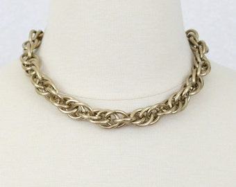 Gold Link Necklace Chain Necklace Choker Statement Necklace Chain Necklace Chunky Link Necklace