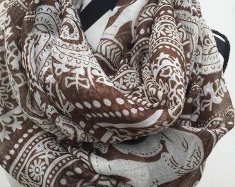 Elephant print scarf