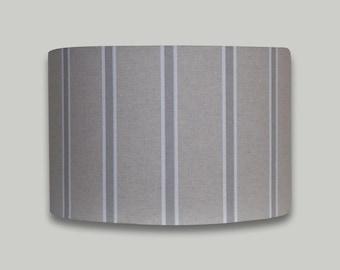 Grey White Stripe Drum Lampshade Lightshade Lamp Shade 20cm 25cm 30cm 35cm 40cm 50cm 60cm 70cm