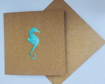 Seahorse greeting card-thank you card-birthday card-anniversary card-wedding card-