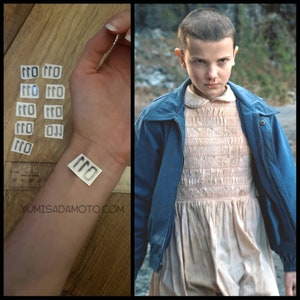 Stranger thing eleven Temporary Tattoo party pack 10x netflix tv show costume cosplay kids party themed