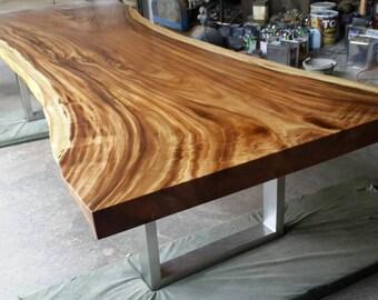 Live Edge Dining Table Solid Slab Acacia Wood