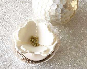 6 Small Fondant Flowers IV 6 Small Gumpaste Flowers IV Edible Flowers Cupcake Toppers Cake Toppers Wedding Cake Decoration Wedding Cake