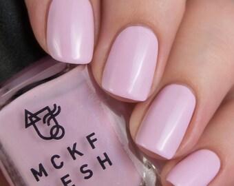REVAMP Flick-Kick - Indie Nail Polish Light Pastel Pink with Blue Shimmer