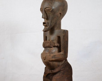 African art tribal, Amazing  Songye statue from Democraric Republic of Congo