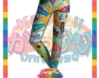 Kawaii Universe - Cute World Peace Showers Designer Tights / Leggings