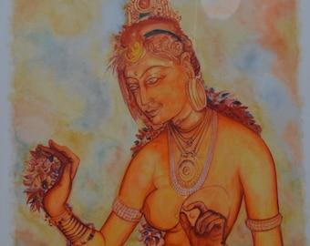 Sigiriya Fresco-Original Painting
