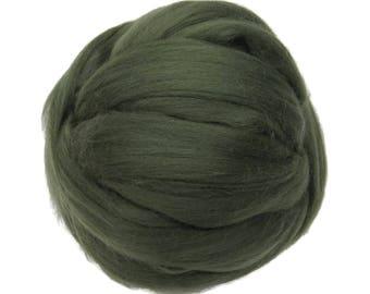 Merino / Silk Roving, Musk - Neutral Color Mulberry Wool Silk Blend Fiber for Spinning & Felting