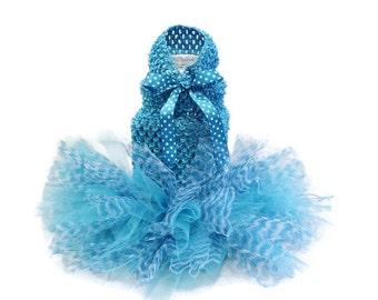 Turquoise Cat Tutu - Cat Costume - Elsa Cat Costume - Turquoise Cat Tutu Dress - Cat Dress - Cat Clothes - Frozen-Halloween Costume for Cats