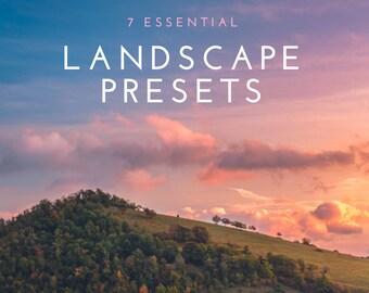 7 Essential Landscape Lightroom Presets
