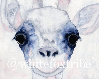 Giraffe Print, Animal Print, Watercolour Print, African Animals, Nursery Wall Art, Wall Art Prints, Nursery Decor, Nursery Wall Art