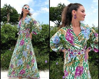 Vintage Emilio Pucci Gown / Vintage Emilio Pucci 2 pc Dress / 60s Pucci Ensemble / fits XS-S / 60s Pucci Maxi Skirt / Vintage Pucci Dress