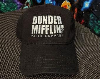 Dunder Mifflin Paper Co. Embroidered Black Dad Hat/Cap